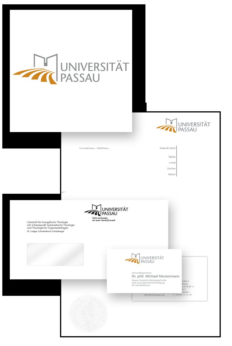 Universität Passau / Geschäftsausstattung