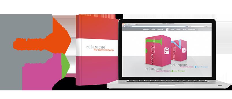 BeLaniche Logo & Web